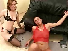 Mature German gangbanged and facialized