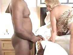 Wife toys around with Black Cock for Hubby