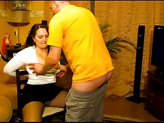 Submissive Wife Gets Face Fucked By Her Russian Hubby