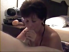 Mature sucks young guy while hubby shoots video
