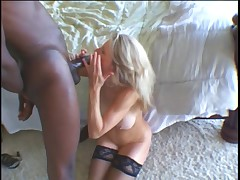 Sexy GILF Baruska getting fucked by black man