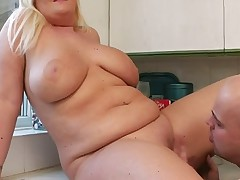 BBW mom with giant natural saggy boobs