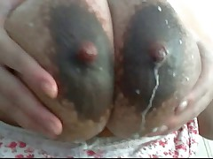 Milf's big breasts lactating p3