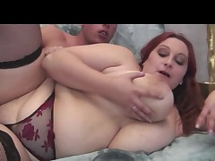 Redhead BBW-Milf fucked by young Guy