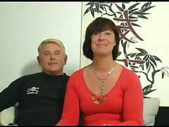 HOT MOM 155 brunette german mature milf in threesome