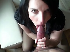 Nice home cock sucking video