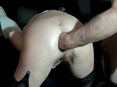 MILF does anal and pussy fisting and squirts a lot