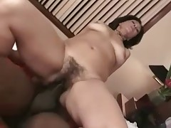 Hot Hairy Mature fucks Old Black Man