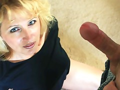 Racquel Devonshire rides a dildo and gives a blowjob