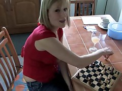 Downblouse Playing Chess 3